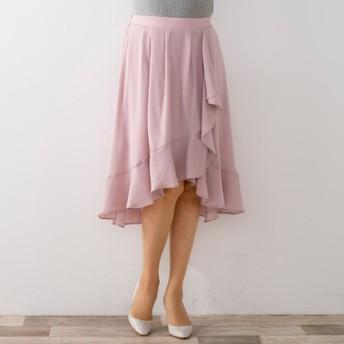 AN 上品な華奢見せラッフルフレアースカート
