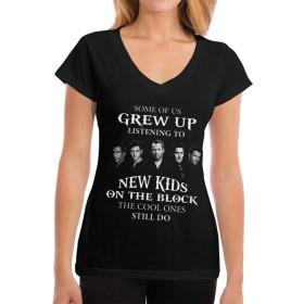 レディース TシャツSome Of Us Grew Up Listening To New Kids On The Block Vネック シンプル夏の新型ファッション可愛い 個性 欧米風