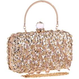 Fashion ビーズのイブニングバッグクラッチバッグの女性は、小さな正方形のパッケージ(長い20CMXハイエンド12CMX 4.5センチメートル)のドレスのファッション野生の女性のシンプルなハードケース pretty