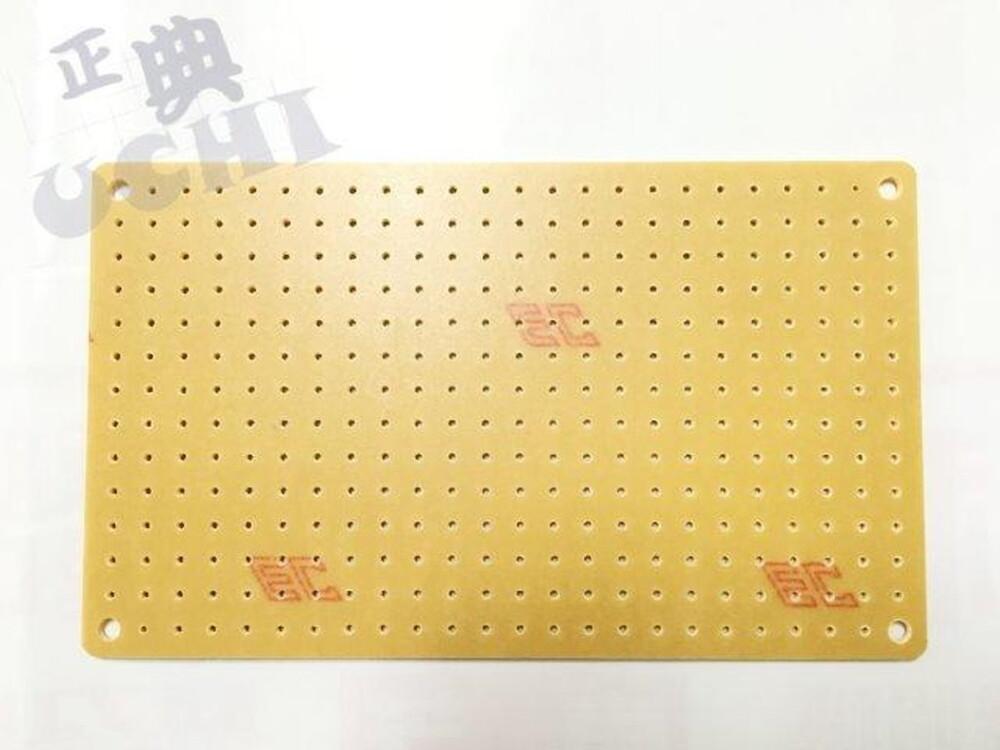 小圓點 125x75mm 14*24孔 電木萬用板 pcb 電子實習  5入