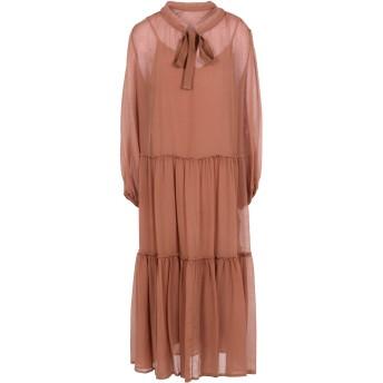 《セール開催中》SEE BY CHLO レディース ロングワンピース&ドレス パステルピンク 34 コットン 75% / シルク 25%