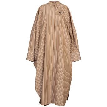《セール開催中》JIL SANDER レディース 7分丈ワンピース・ドレス キャメル 36 コットン 100%