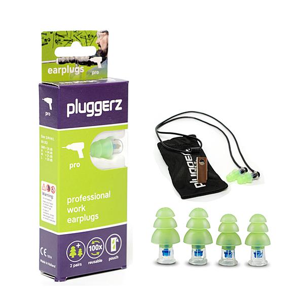 荷蘭進口 pluggerz 工作耳塞 聲音濾波器 1大1小2副裝
