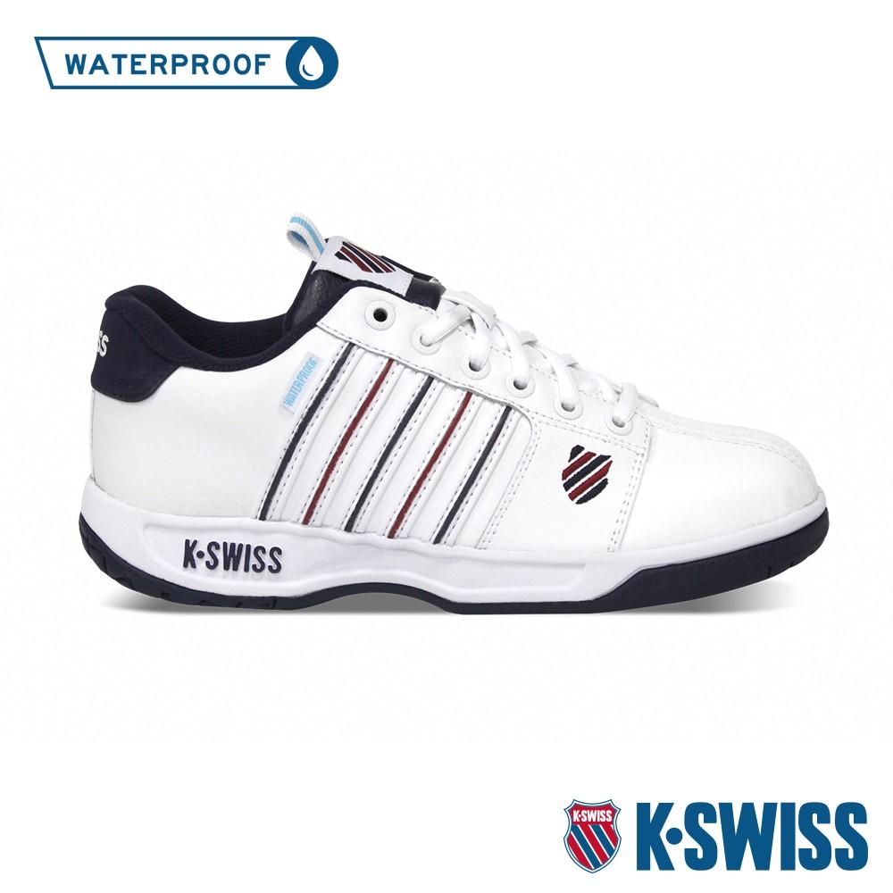 K-SWISS Eadall WP防水系列 時尚運動鞋-男-白/藍/紅