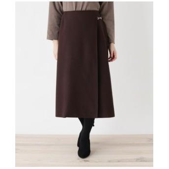 【大きいサイズあり・13号・15号】innowave ビットミモレラップスカート