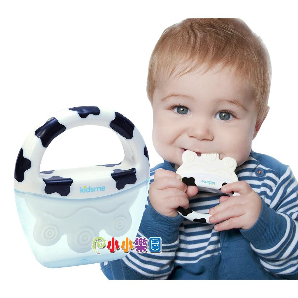 *小小樂園*kidsme 牛牛冰棒牙膠 FH-9655 裝入牛奶或果汁製成冰棒,啃咬時順道吃點心