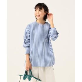 シップス 《予約》SHIPS any:チュニックシャツ レディース ブルー MEDIUM 【SHIPS】