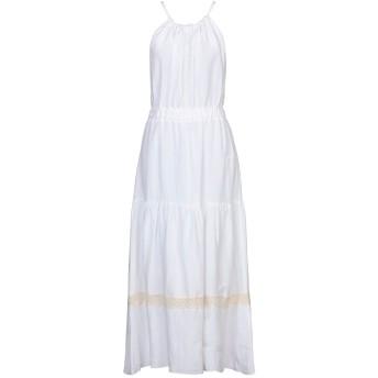 《セール開催中》FLY GIRL レディース ロングワンピース&ドレス ホワイト M レーヨン 60% / リネン 40%
