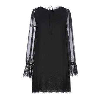 《セール開催中》I BLUES レディース ミニワンピース&ドレス ブラック 42 ポリエステル 100%