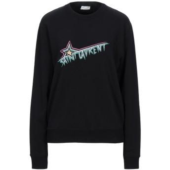 《セール開催中》SAINT LAURENT レディース スウェットシャツ ブラック XS コットン 100%