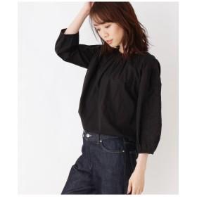 【洗える】エンブロイダリースリーブシャツ