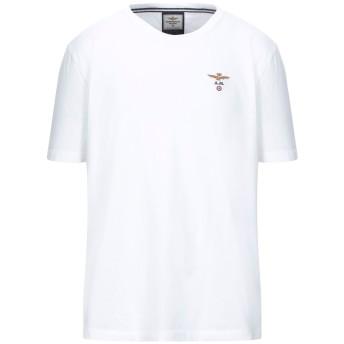 《セール開催中》AERONAUTICA MILITARE メンズ T シャツ ホワイト XL コットン 100%