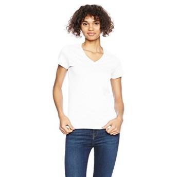 (ギルダン)GILDAN Tシャツ 63V00L レディースVネック Tシャツ 63V00L ホワイト LM