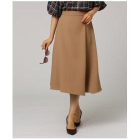 イレギュラーヘムミモレラップ風スカート