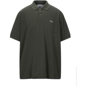《セール開催中》LACOSTE メンズ ポロシャツ ダークグリーン 3 コットン 100%