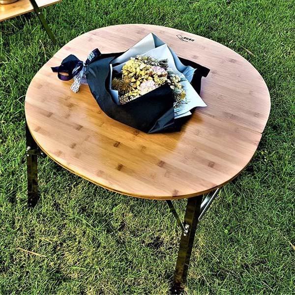 想玩生活 和風竹板圓桌《台南悠活運動家》