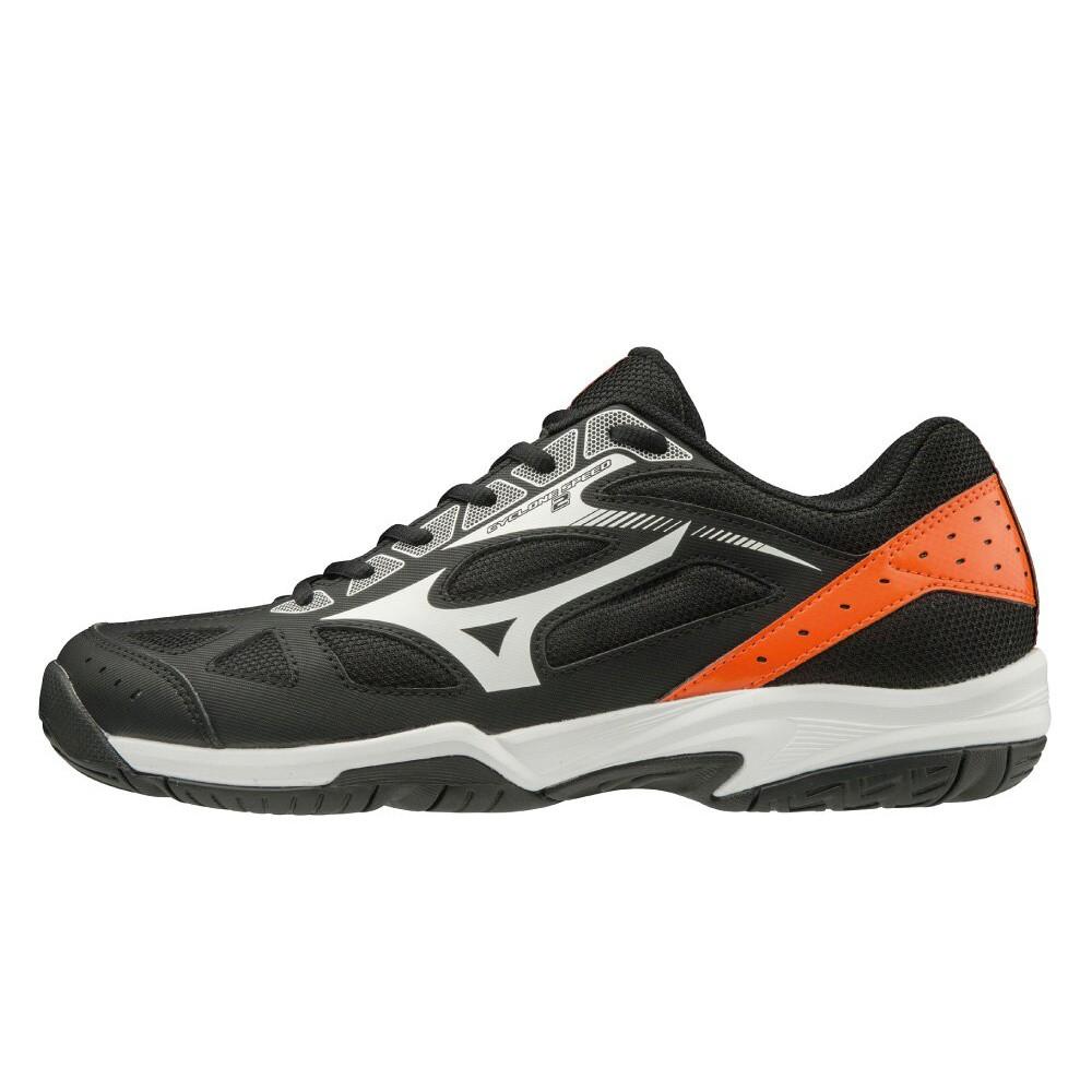 MIZUNO 基本款排球鞋 CYCLONE SPEED 2系列 黑橘 V1GA198053 20SS【樂買網】