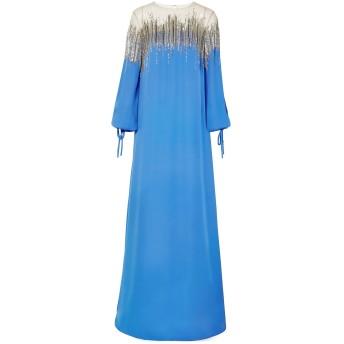 《セール開催中》OSCAR DE LA RENTA レディース ロングワンピース&ドレス パステルブルー XS シルク 100%
