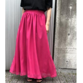 【ビス/ViS】 【WEB限定】カラーロングスカート