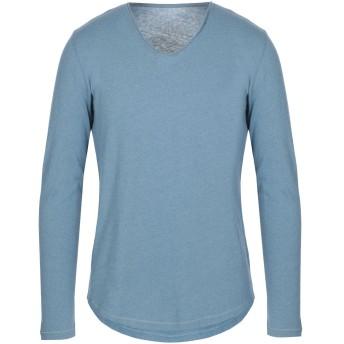 《セール開催中》MAJESTIC FILATURES メンズ T シャツ パステルブルー M コットン 85% / カシミヤ 15%
