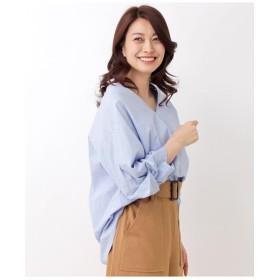 【洗える・42(LL)WEB限定サイズ】デザイン袖プルオーバー