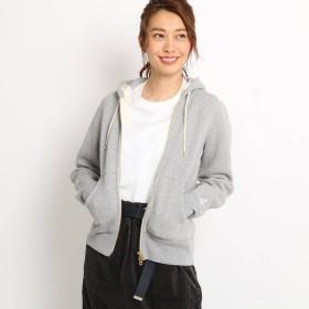 Dessin(Ladies)(デッサン:レディース)/【Sサイズ・Lサイズあり 洗える】内ボア吊り編み裏毛ジップパーカー