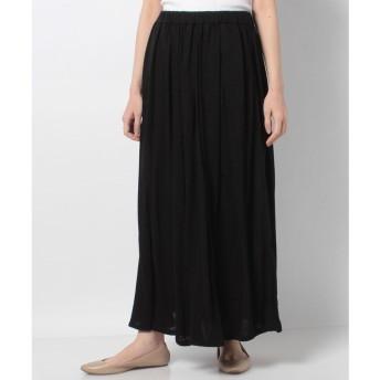 マーコート 【MidiUmi】long gathered スカート(BLACK)