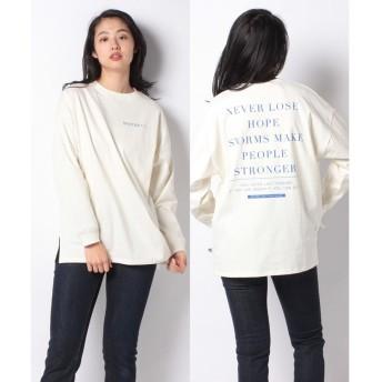 WEGO バックプリントロングTシャツ(パターン2)