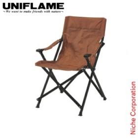 ユニフレーム UFチェア100 ブラウン UNIFLAME 680322 キャンプ イス 椅子 おりたたみ アウトドア 折りたたみ 折り畳み 茶