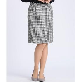 【マルシェ ド クリアインプレッション/MARCHE de CLEAR IMPRESSION】 ファンシーツイードAラインスカート