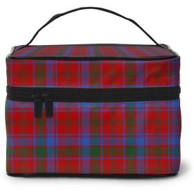 化粧ポーチ ロバートソン・タータン 化粧品バッグ 防水 多機能 大容量 持ち運び便利 旅行する