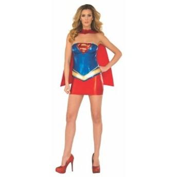 スーパーマン コスチューム スーパーヒーロー スタイル ウーマン スーパーガール ラメ コルセット コスチューム
