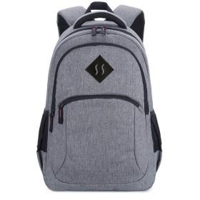 インテリジェントUsbのチャージバックパック、レジャー旅行防水ノートパソコンバッグ、男性オックスフォード布学生の肩スクールバッグ(46  13  30センチメートル) (Color : Gray)