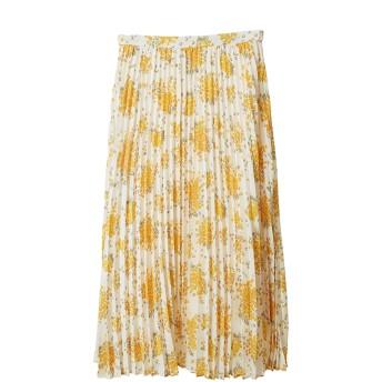 【スカート】小花柄プリーツスカート