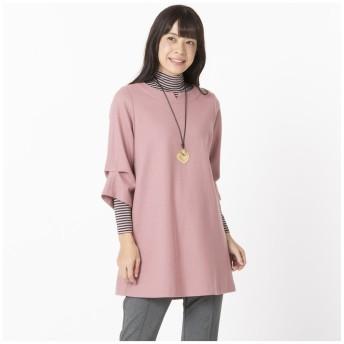 (Liliane Burty ECLAT/リリアンビューティエクラ)衿元と袖に技ありチュニック/レディース ピンク