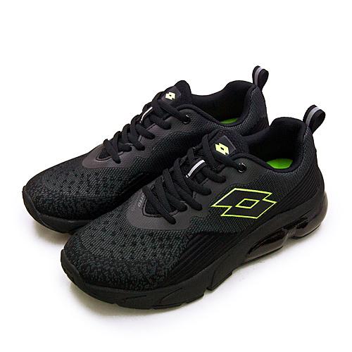 LIKA夢 LOTTO 專業編織避震氣墊慢跑鞋 NOVA+ 新星系列 黑螢綠 1600 男