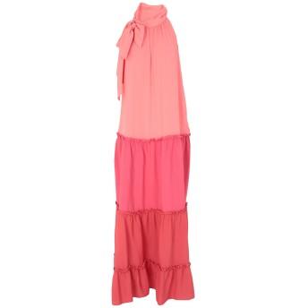 《セール開催中》MARIA GRAZIA SEVERI レディース ロングワンピース&ドレス ピンク 44 アセテート 69% / シルク 31%