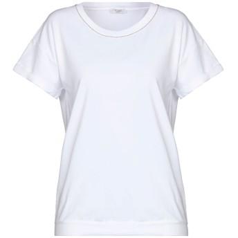 《セール開催中》PESERICO レディース T シャツ ホワイト 40 コットン 90% / ポリウレタン 10%