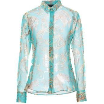《セール開催中》PHILIPP PLEIN レディース シャツ ターコイズブルー S シルク 100%