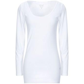 《セール開催中》PIECES レディース T シャツ ホワイト XS コットン 93% / ポリウレタン 7%