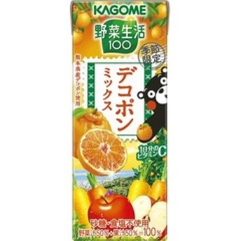 dポイントが貯まる・使える通販| 野菜生活100 デコポンミックス (195ml*24本入) 【dショッピング】 フルーツジュース おすすめ価格