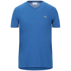 《セール開催中》LACOSTE メンズ T シャツ ブルー 4 コットン 100%