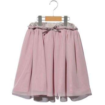 50%OFF plume blanche (プリュムブランシュ) チュールスカート ピンク