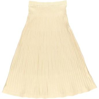 【6,000円(税込)以上のお買物で全国送料無料。】ニットプリーツスカート