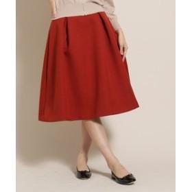 【anatelier:スカート】【SS-Lサイズあり】メロン三重織フレアスカート