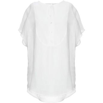 《セール開催中》TELA レディース シャツ ホワイト 42 ラミー 100%