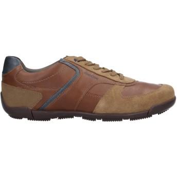 《セール開催中》GEOX メンズ スニーカー&テニスシューズ(ローカット) ブラウン 40 革 / 紡績繊維