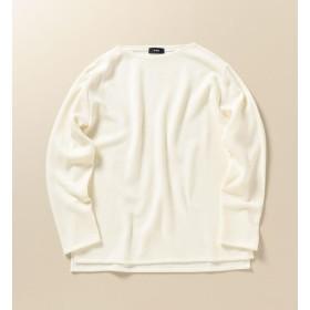 【シップス/SHIPS】 SC: ハイゲージ ミラノリブ ボートネック プルオーバー(バスクシャツ)