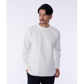 【PLST】ランダムワッフルクルーネックTシャツ Men
