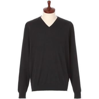 LeCENT レセント Vネックセーター M→L ブラック Lサイズ メンズ